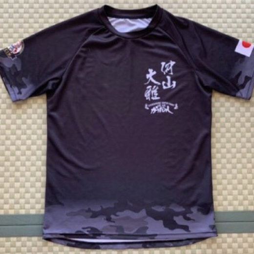 キックボクシングチャンピオン仲山大雅選手|セコンドTシャツ